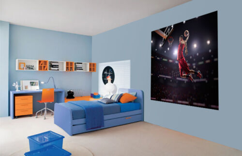 38976613 Cool Baloncesto Jump Chupito Red Papel Pintado Pared Mural