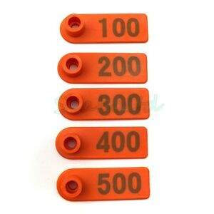 Business, Office & Industrial 100Pcs Goat Sheep Pig Cattle Beef Plastic Livestock Ear Tag Number Tags In ZY
