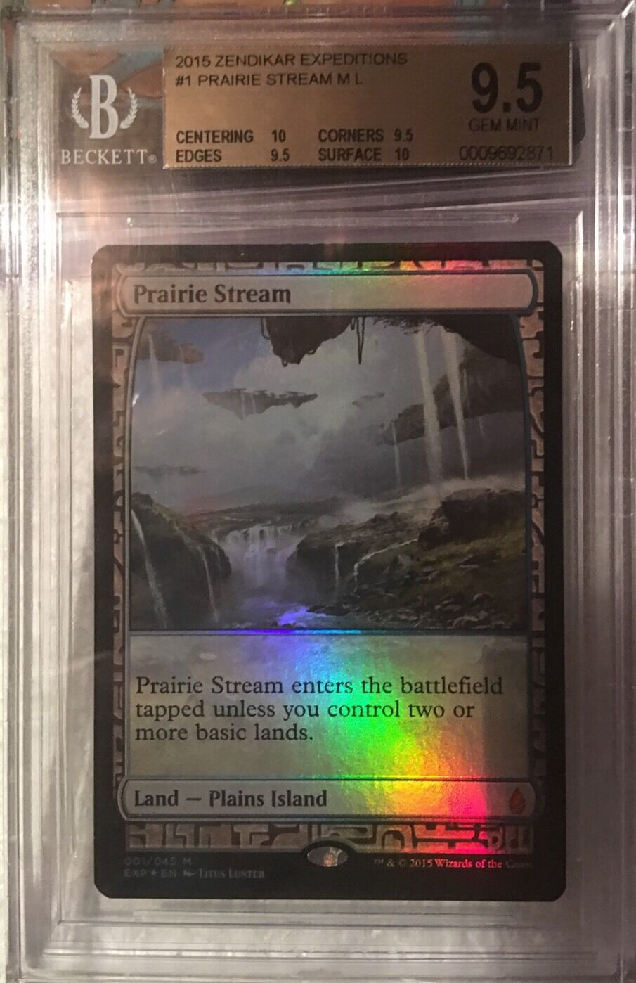 Prairie Stream - BGS 9.5 GEM MINT - Zendikar Expeditioner - MTG - Modern - QUAD