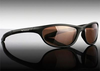 Wychwood Wrap Polarised Fishing Sunglasses Sun Glasses Brown Lens