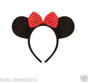 Minnie-Mouse-Ears-Bow-Headband-Mickey-Mouse-Disney-Fancy-Dress-Accessory