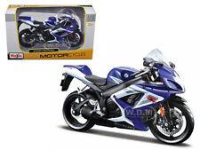 SUZUKI GSX-R 750 BLUE BIKE 1/12 MOTORCYCLE BY MAISTO 31153