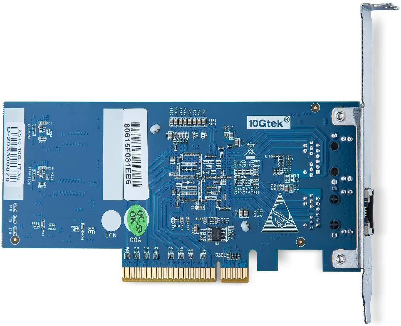 Intel X540-T1 10 Gigabit Ethernet Converged Network Adapter PCI-E X8 Single Port