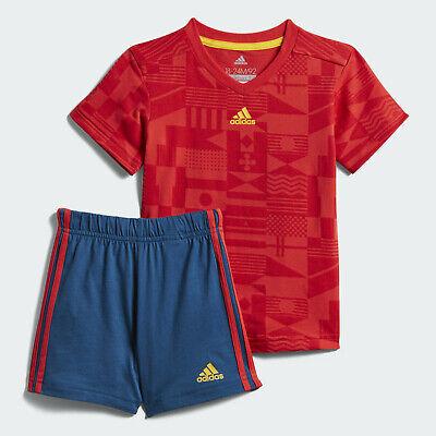 New AP1854 Adidas Boys RMCF REAL MADRID 3 Stripe Summer Set Junior Size 2-3y