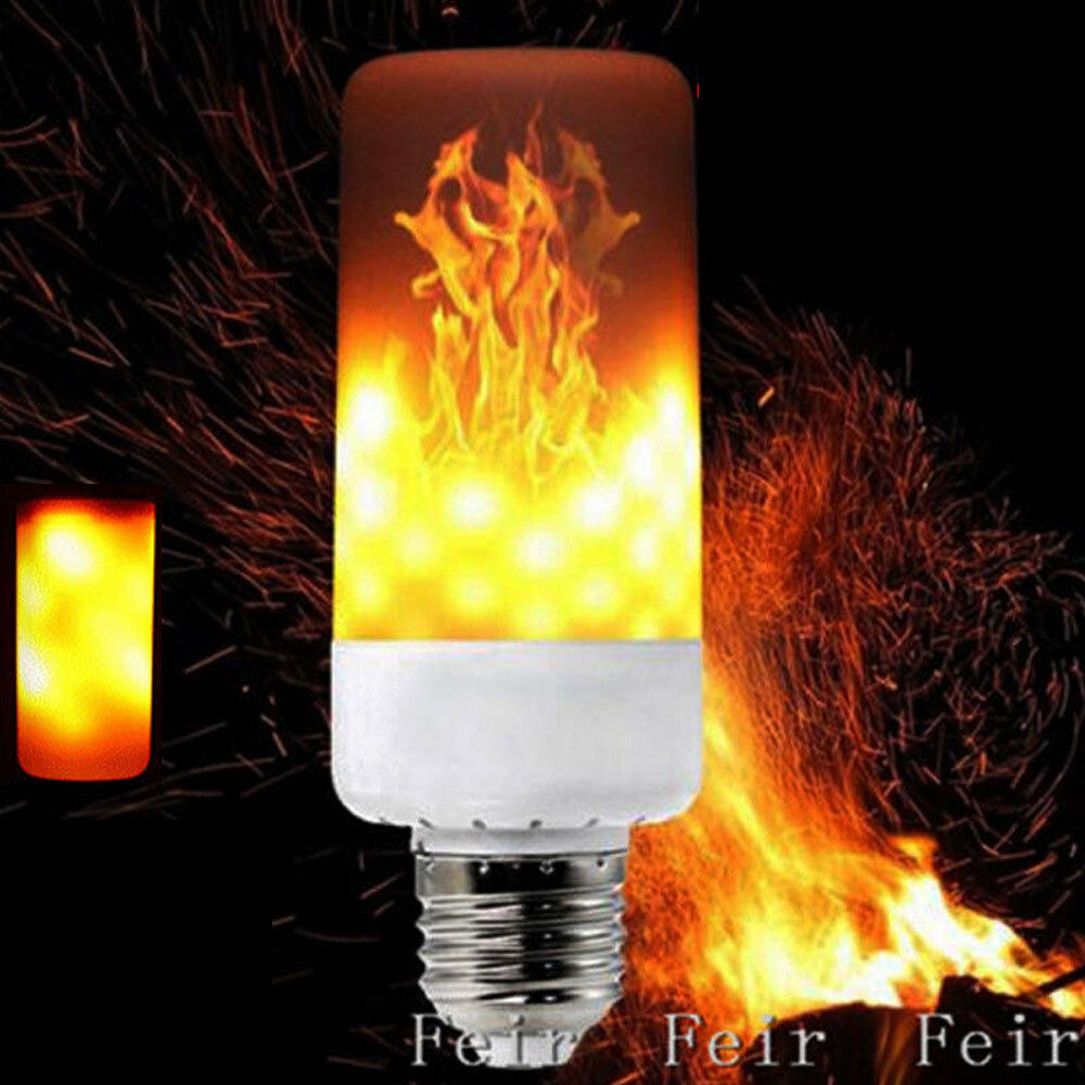 E27 Led Flicker Flame Light Bulb Simulated Burn Fire