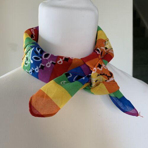 Bandana Sciarpa Arcobaleno Fazzoletto Testa Vestito Hairband Festival collo un accesso
