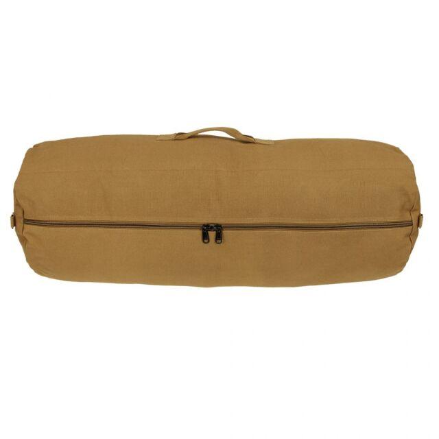 10T RVC Duffle M - sac baluchon, sac de voyage, 70L, Cotton Canvas 625g/m², Ø 32