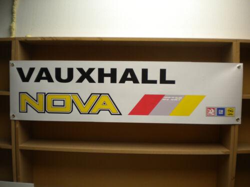 Vauxhall Nova Sport Banner workshop garage Classic Car Show Display poster