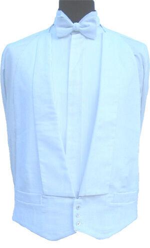 100% Cotton White Marcella Waistcoat 38  Regular