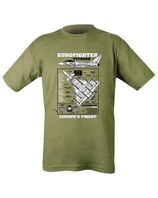 New MENS MILITARY Outdoor Eurofighter Typhoon 100% Cotton Green T-shirt Tshirt