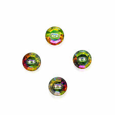 4 Piece Set 12 mm Swarovski Components 2-Hole Crystal Sew On Buttons AB/M-foiled