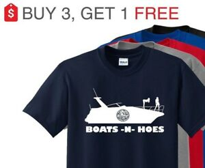 Details about Boats N Hoes T-Shirt, Prestige Worldwide Step Brothers Will  Ferrell and Reilly