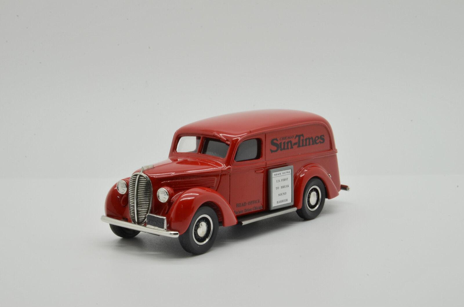 まれ!フォード1939パネルデリバリーバンシカゴサンタイムズダーラムDC - 3 E 1 / 43