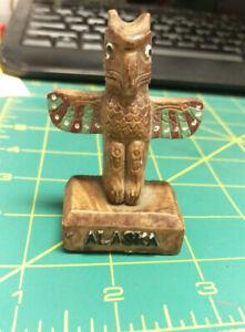 Alaska-Souvenir-Thunderbird-Totem-Pole-2-5-inches-tall-beautiful