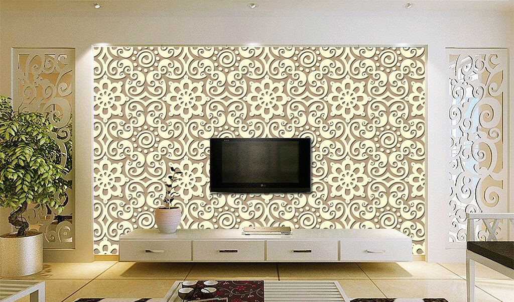 3D Gelbes Muster 677 Tapete Tapeten Mauer Foto Familie Tapete Wandgemälde DE