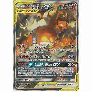 Pokemon-SM201-Reshiram-amp-Charizard-TAG-TEAM-GX-Black-Star-Promo-Card-Holo-Rare