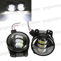 2x Cree Led 60w 4 Driving Fog Lights White For Dodge Magnum Journey Charger