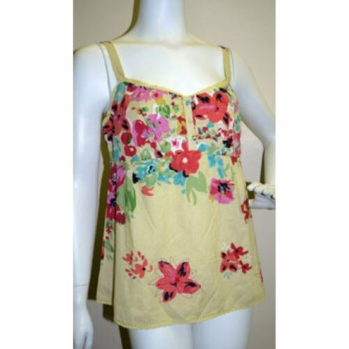Ex M/&S New Girls Ladies Cotton Strappy Floral Print Camisole Top Vest Size 10-14