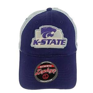 Kansas-State-K-State-Wildcats-NCAA-Sport-Snapback-Mesh-Zephyr-Cap-Hat-NWT-Purple