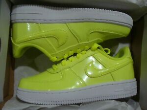 Nike Air Force 1 LV8 UV GS # AO2286 700 Neon Yellow White Big Kids SZ 5 & 6.5 | eBay