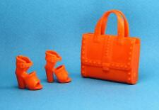 Barbie Orange Block Heel Platform Sandal Shoes Purse 2016 Fashionistas