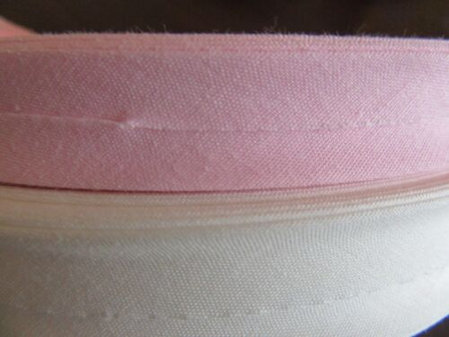 bias binding 15mm pink 20mm ivory sold by the meter