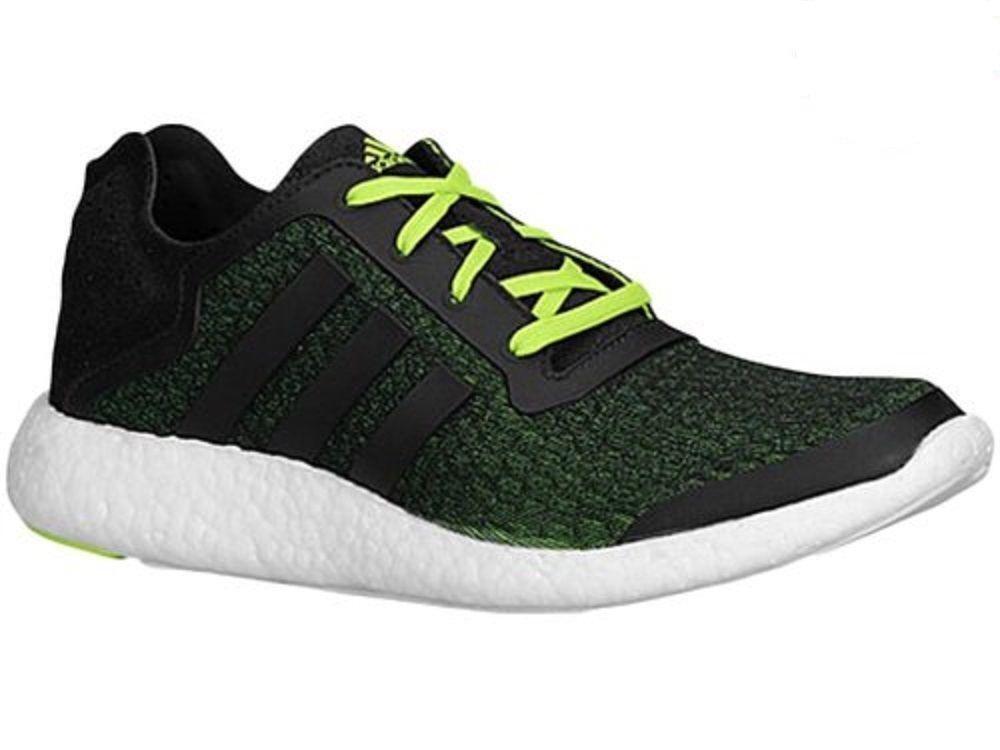 Mens ADIDAS PUREBOOST Trainers REVEAL Black Textile Running Trainers PUREBOOST B34868 e2d3ca