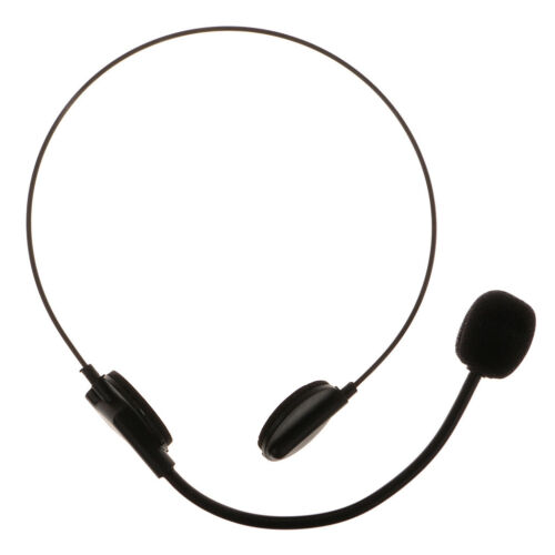 10pcs Adults Black Headset Mic Microphone Toy Halloween Cosplay Costume Prop