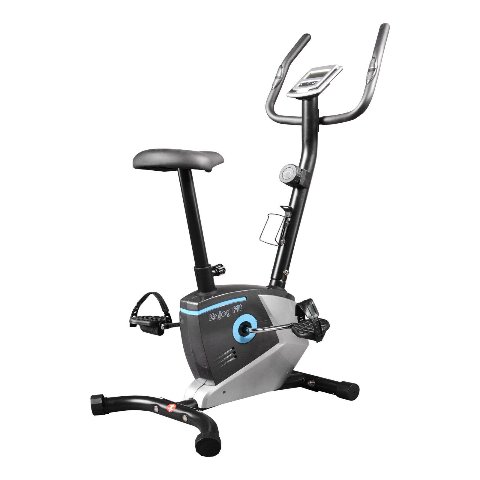 ENJOYFIT Heimtrainer Ergometer Fahrradtrainer Fitnessbike mit Handpuls-Sensoren