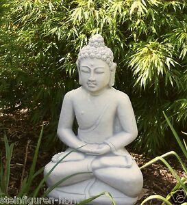 Buddha skulptur aus steinguss f r garten neu frostfest for Steinfigur buddha garten
