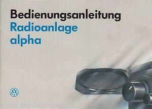 VW-Bus-T4-Radio-ALPHA-Betriebsanleitung-07-1991