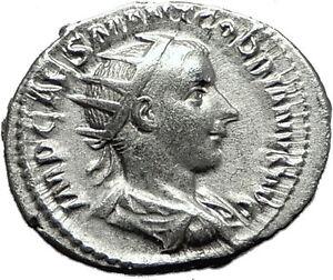 GORDIAN-III-239AD-Rome-Silver-Authentic-Genuine-Ancient-Roman-Coin-Virtus-i59207