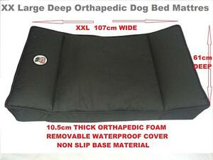XX-Large-Orthopaedic-Dog-Bed-Mattress-10cm-Thick-High-Density-Foam-Waterproof