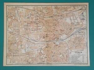 Map Of Germany Essen.1936 Map Germany German Reich Essen Aachen City Town Plans Ebay