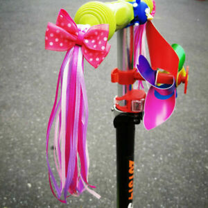 Bike Decorative Ribbons Streamers Sparkly Handlebar Tassels Scooter Cycling Kids
