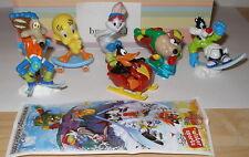 """Komplett Satz """"Looney Tunes Aktive"""" Winter Sport mit allen Beipackzetteln"""