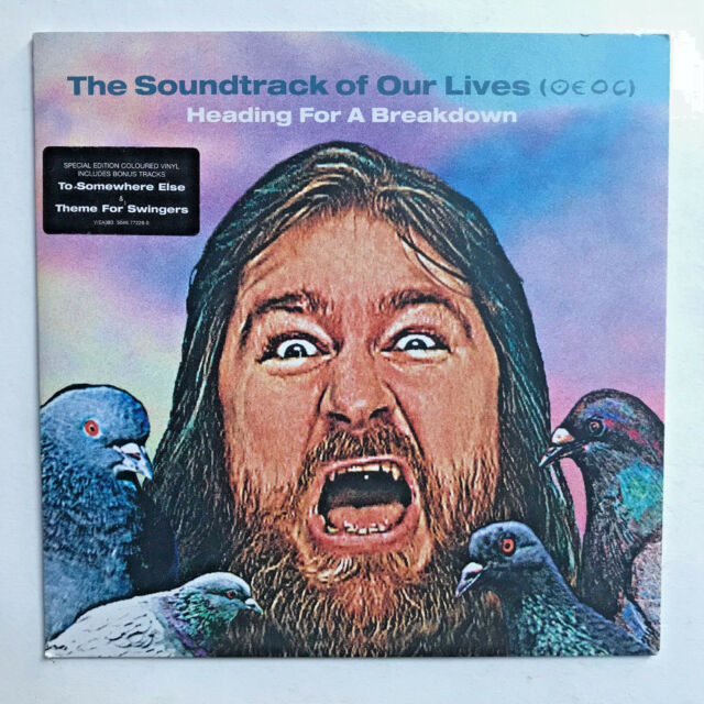 THE SOUNDTRACK OF OUR LIVES - HEADING FOR A * 7  BLUE VINYL * FREE P&P UK WEA383
