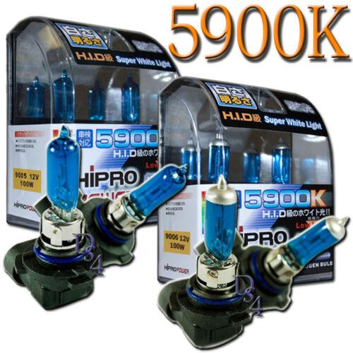 Super White 9006 /& 9005 HID Xenon 100W 5900K Headlight Bulbs for Low/&High Beam