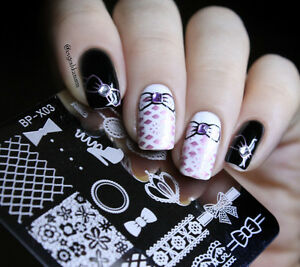 born pretty nail art stamp templates lace design image stamping