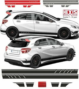 Mercedes-A45-edition1-AMG-W176-Side-stripes-Decals-Stickers-panel-fit-Anycolour