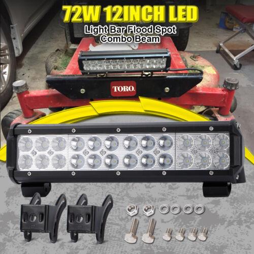 "12/"" inch 72W Led Work Light Bar Flood Spot Suv Driving Lamp Offroad"