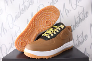 NIKE LUNAR FORCE 1 DUCKBOOT LOW SZ 8.5-13 ALE BROWN WHITE GUM AA1125 200