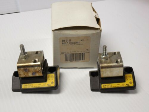 NEW LOT OF 2 BUSS MODULAR FUSE BLOCK BH-0121 BH0121
