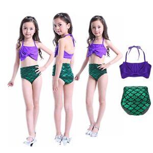 ffa1f2d5e5 Image is loading Princess-Baby-Girl-Kids-Mermaid-Bikini-Swimwear-Swimsuit-