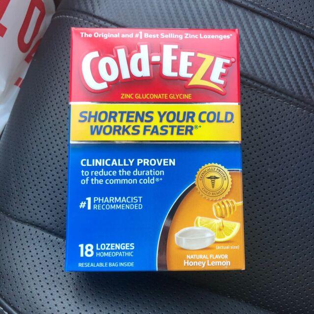 Cold-eeze Zinc Lozenges Honey Lemon