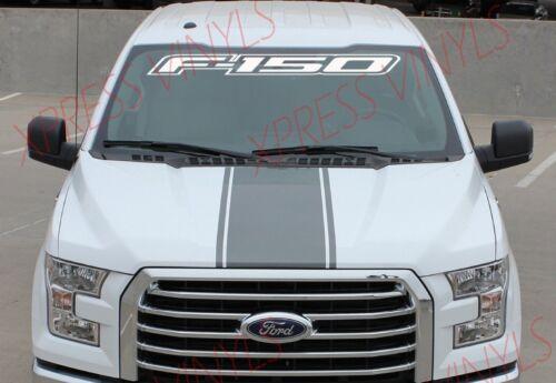 "FORD F-150 Windshield Window Vinyl Decal Sticker Outline Vehicle Logo WHITE 40/"""