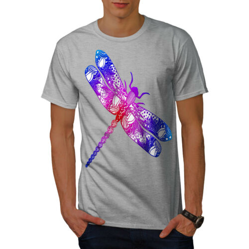 insetti design grafico stampato T-shirt Wellcoda COLORATO Dragon Fly Uomo T-shirt