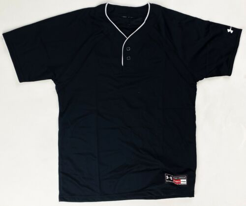 Under Armour SS Baseball Henley Practice Jersey Youth Boy/'s Girl/'s Black 1102740