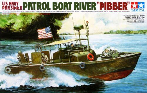 """Tamiya 35150 1//35 Military Model Kit U.S PBR31 MKII Patrol Boat Riverine/""""Pibber/"""""""