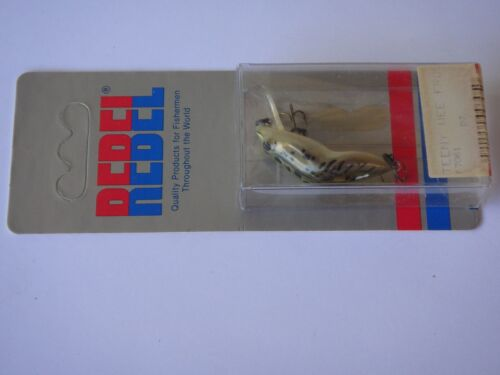 Wee Frog Shallow Floating Fishing Lure F7061 REBEL 1984 Old Stock U.S.A